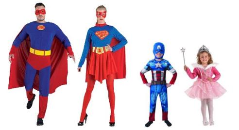 Ιδέες για αποκριάτικες στολές. Superman, Captain America, Πριγκίπισσα.